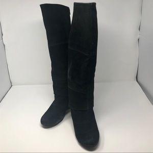 Fergalicious Suede Leather Boots Black Size 7 1/2